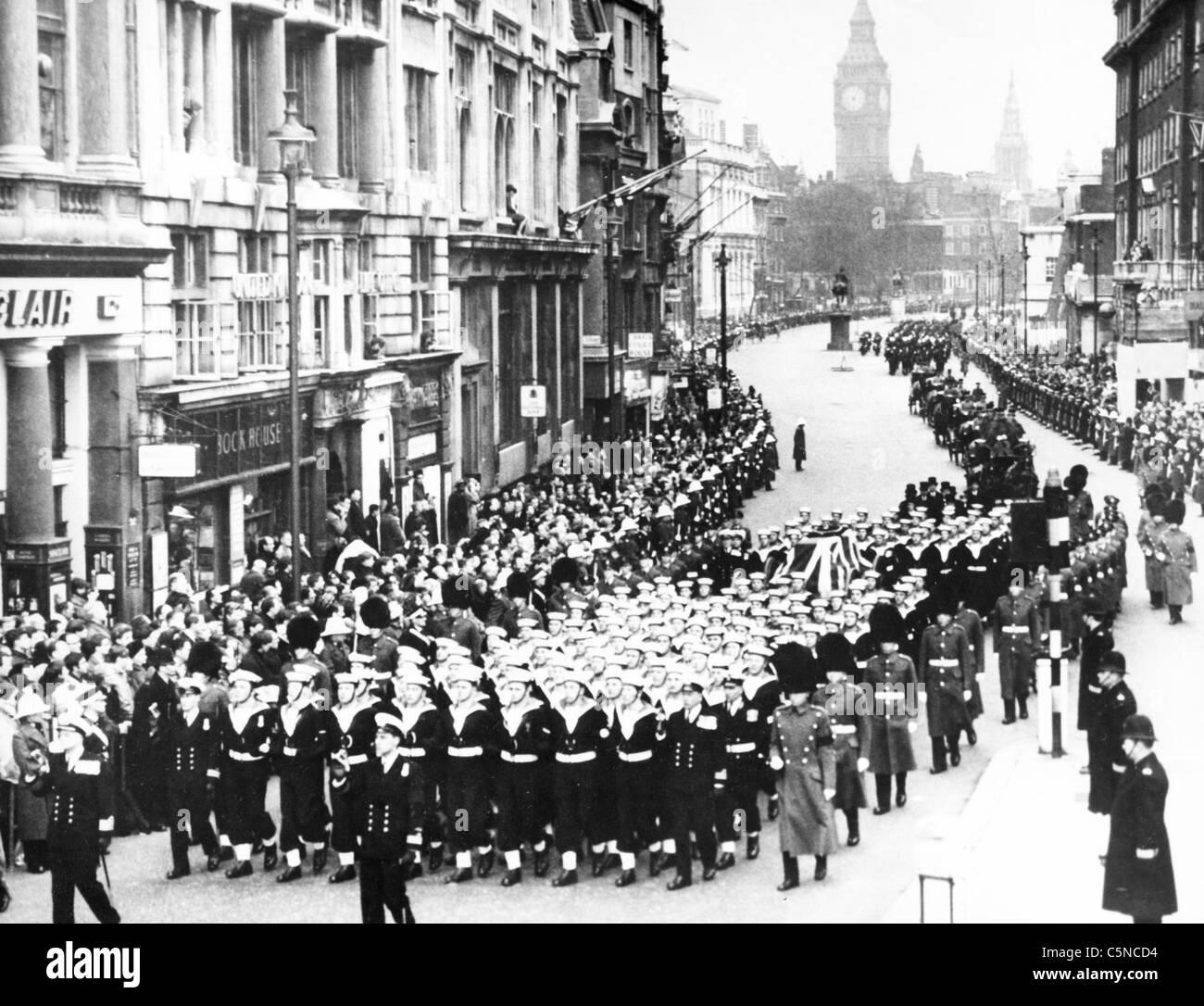 winston churchill funeral - Stock Image