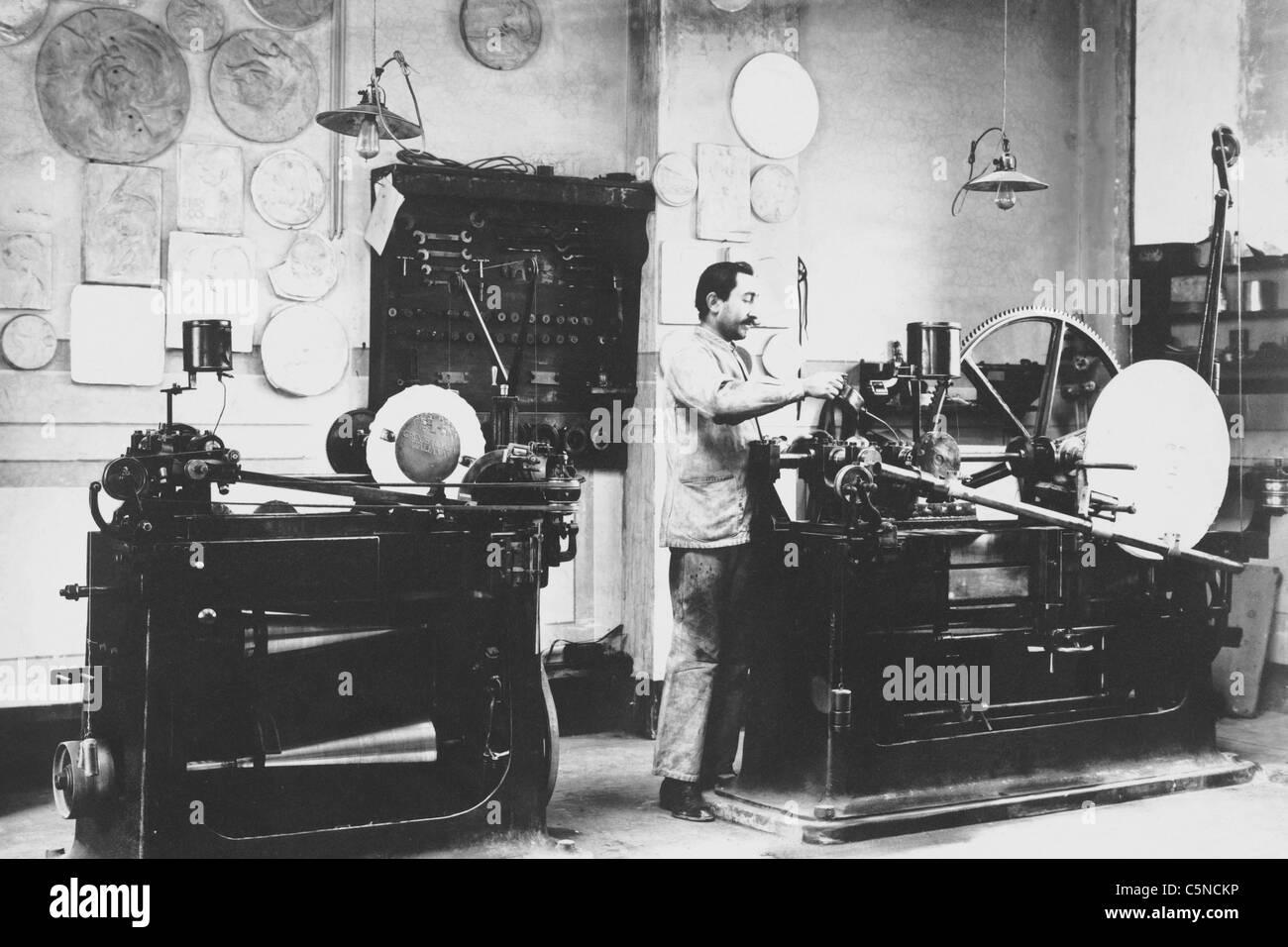 italy, rome, money press, 1900 - Stock Image