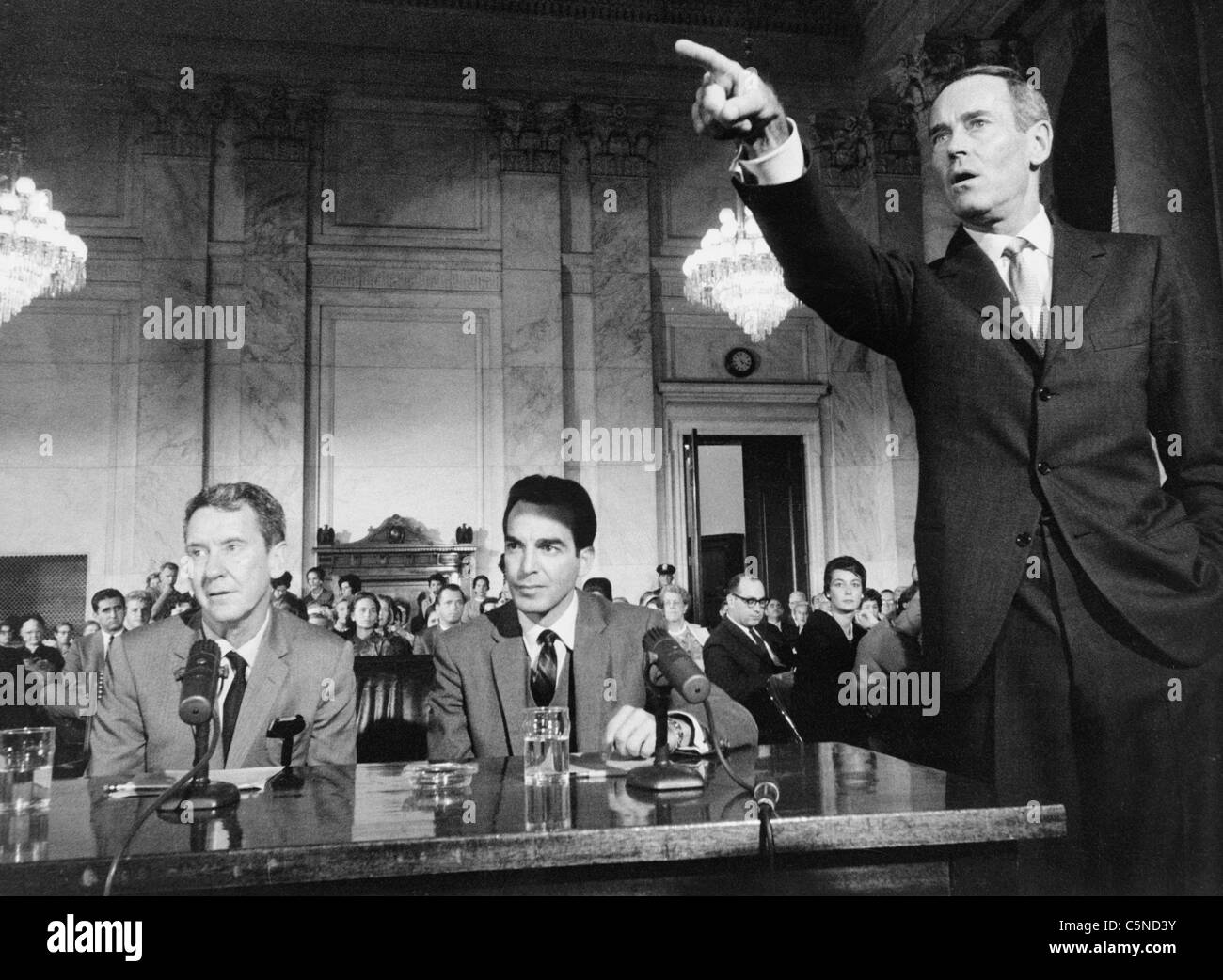 advise and consent, henry fonda, burgess meredith, paul stevens, 1962 - Stock Image