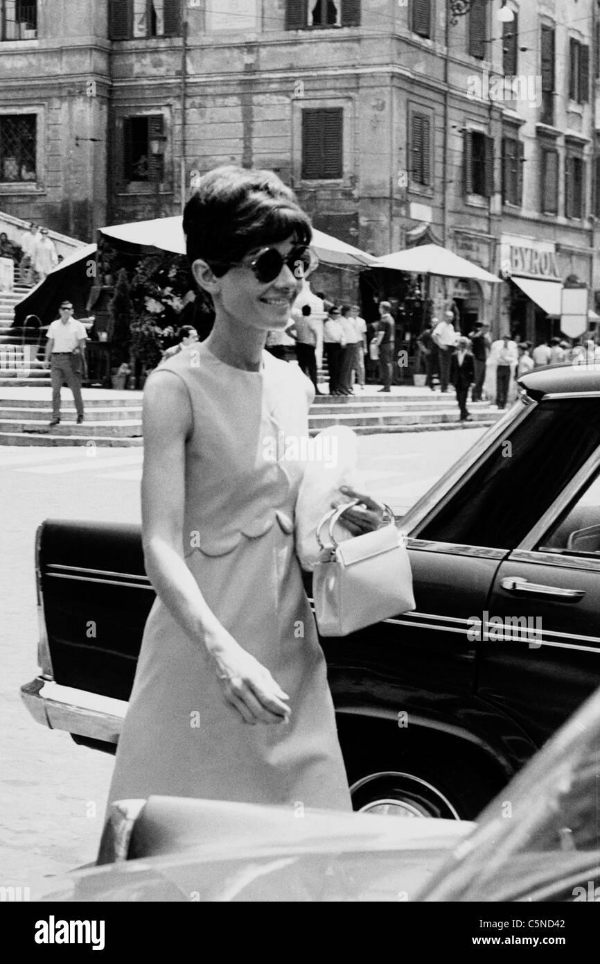 audrey hepburn, 1968 - Stock Image