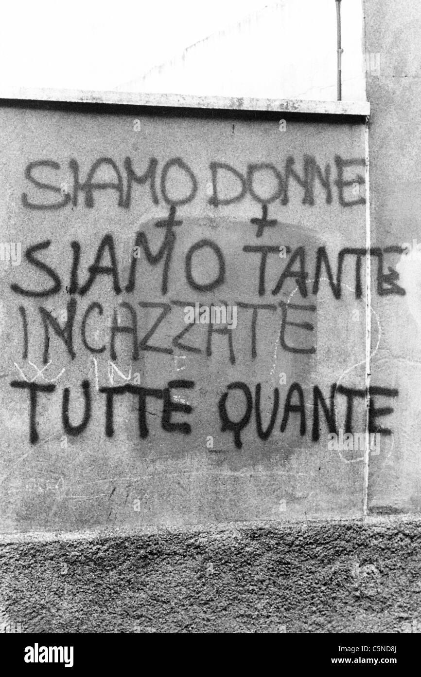 feminist writing, Italy 1978 - Stock Image