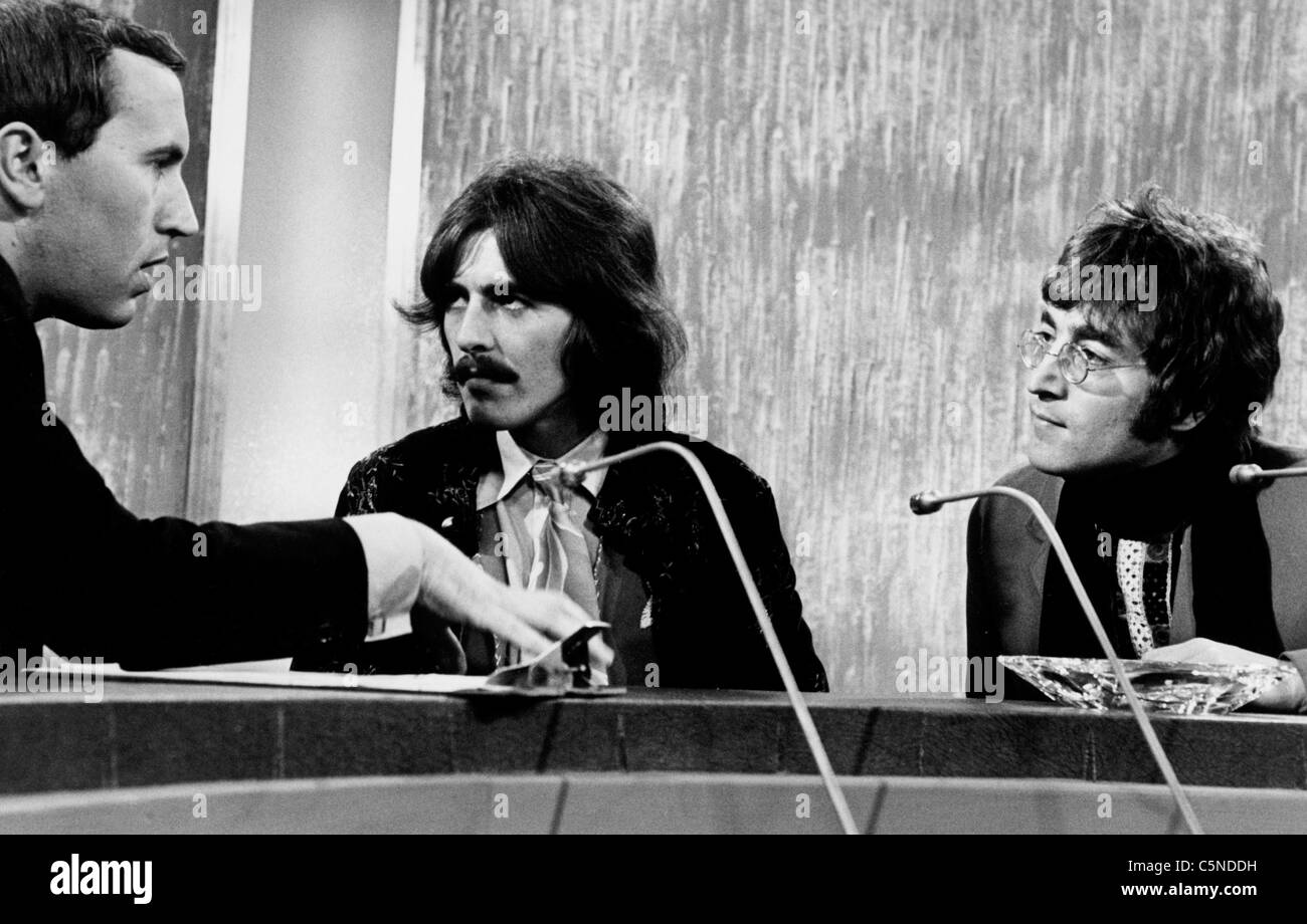 David Frost George Harrison John Lennon 1967
