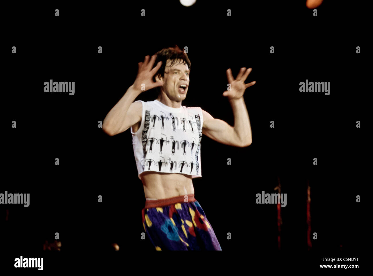 rolling stones, mick jagger - Stock Image