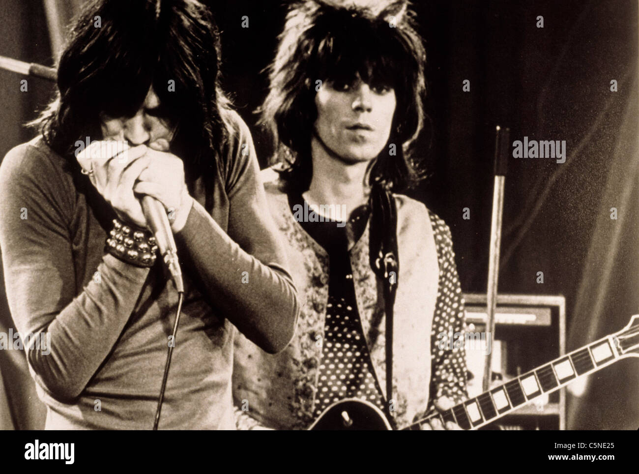 rolling stones, keith richards, mick jagger - Stock Image