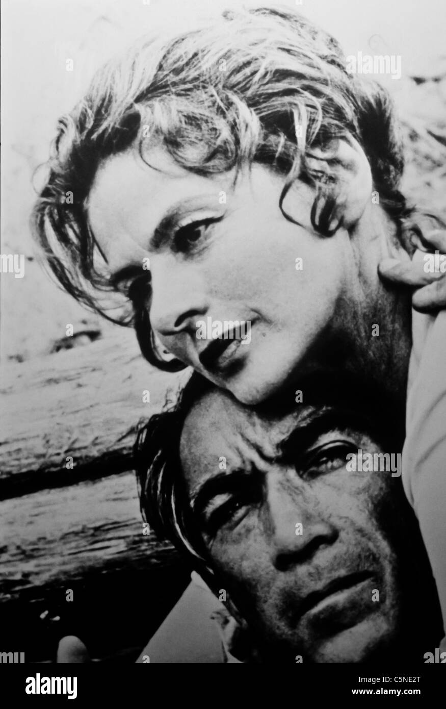 ingrid bergman and anthony quinn - Stock Image