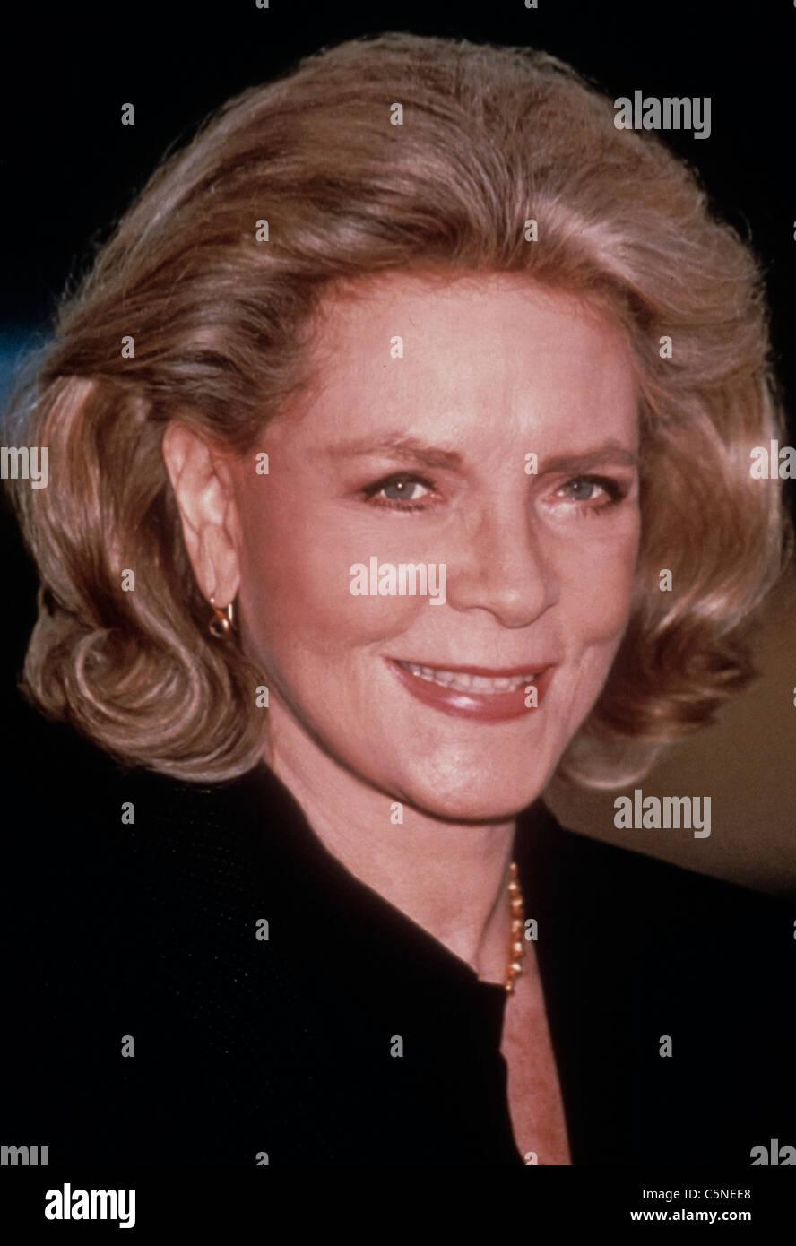 Lauren Bacall, 1990 - Stock Image