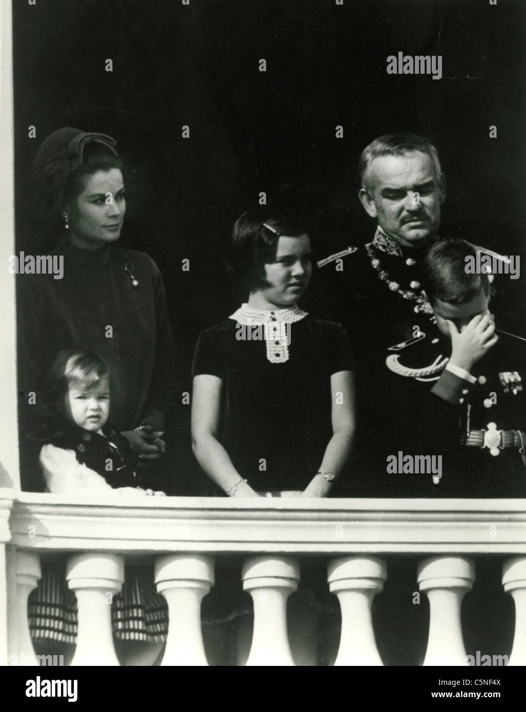 Grace Kelly With Prince Rainier III Of Monaco And The Children