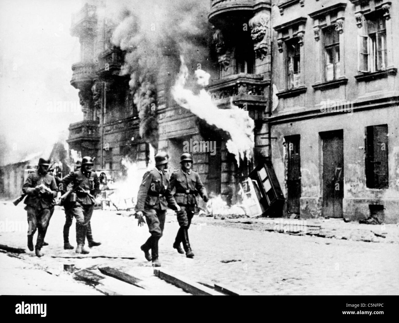 German troops during the siege of Leningrad - Stock Image