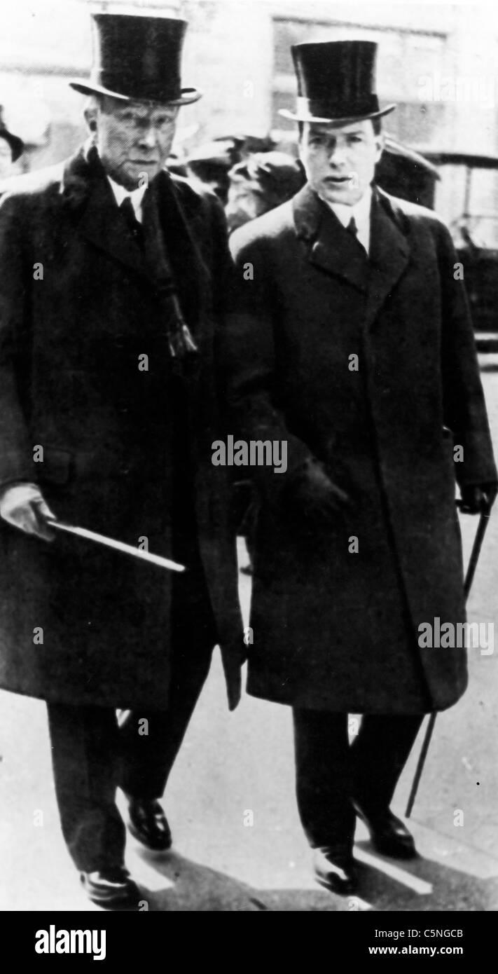 John Davison Rockefeller with Nelson, 1935 - Stock Image