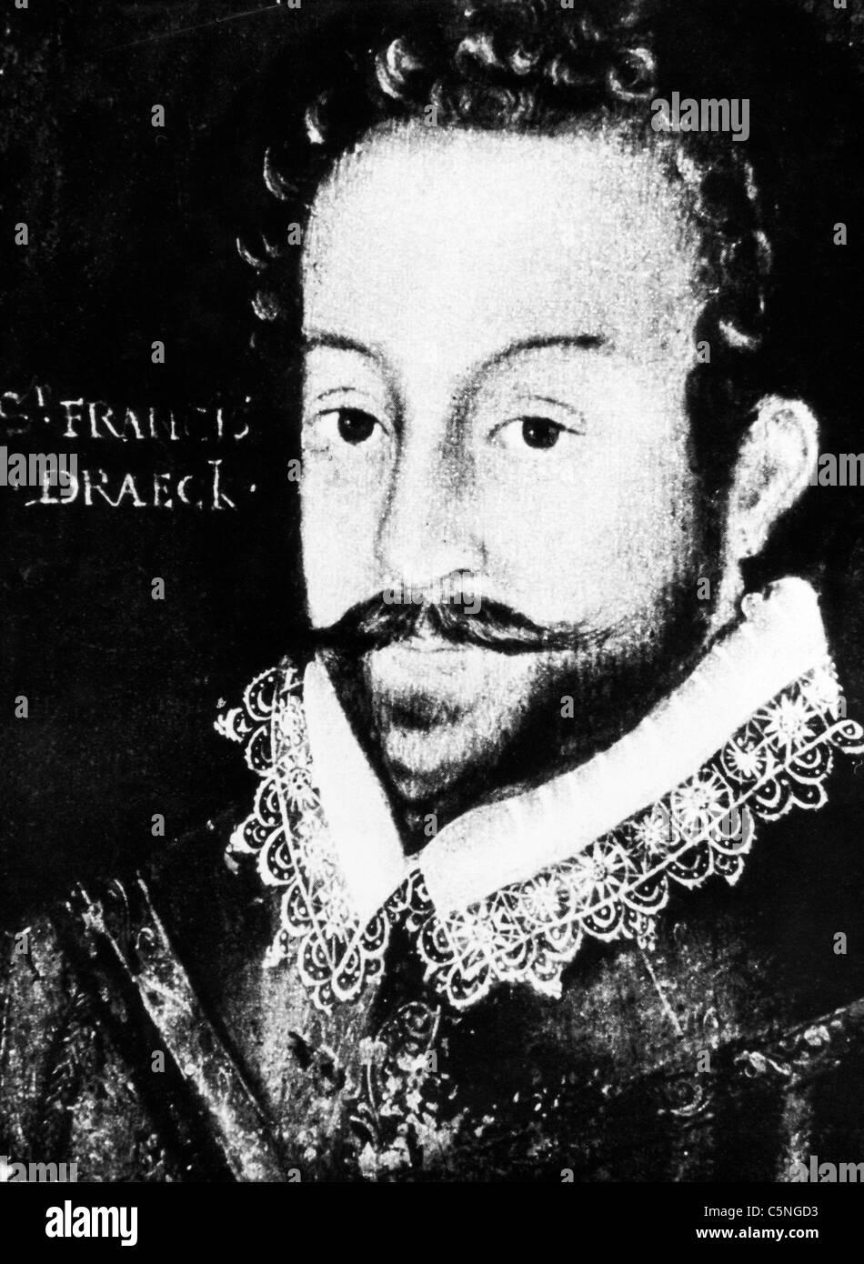 portrait of Francis Drake, 1580 - Stock Image