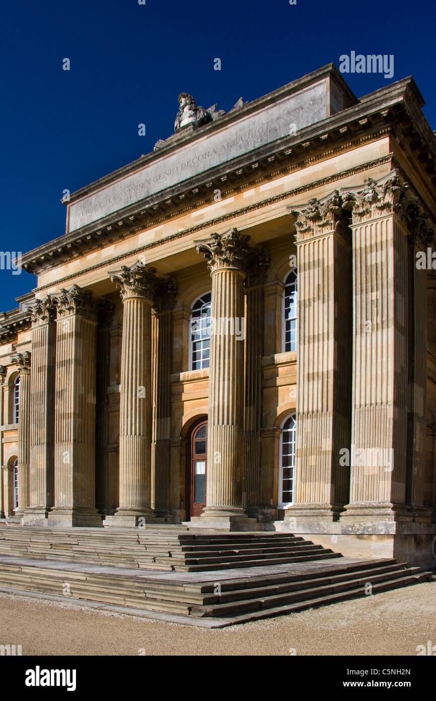 Blenheim Palace, England South Portico - Stock Image