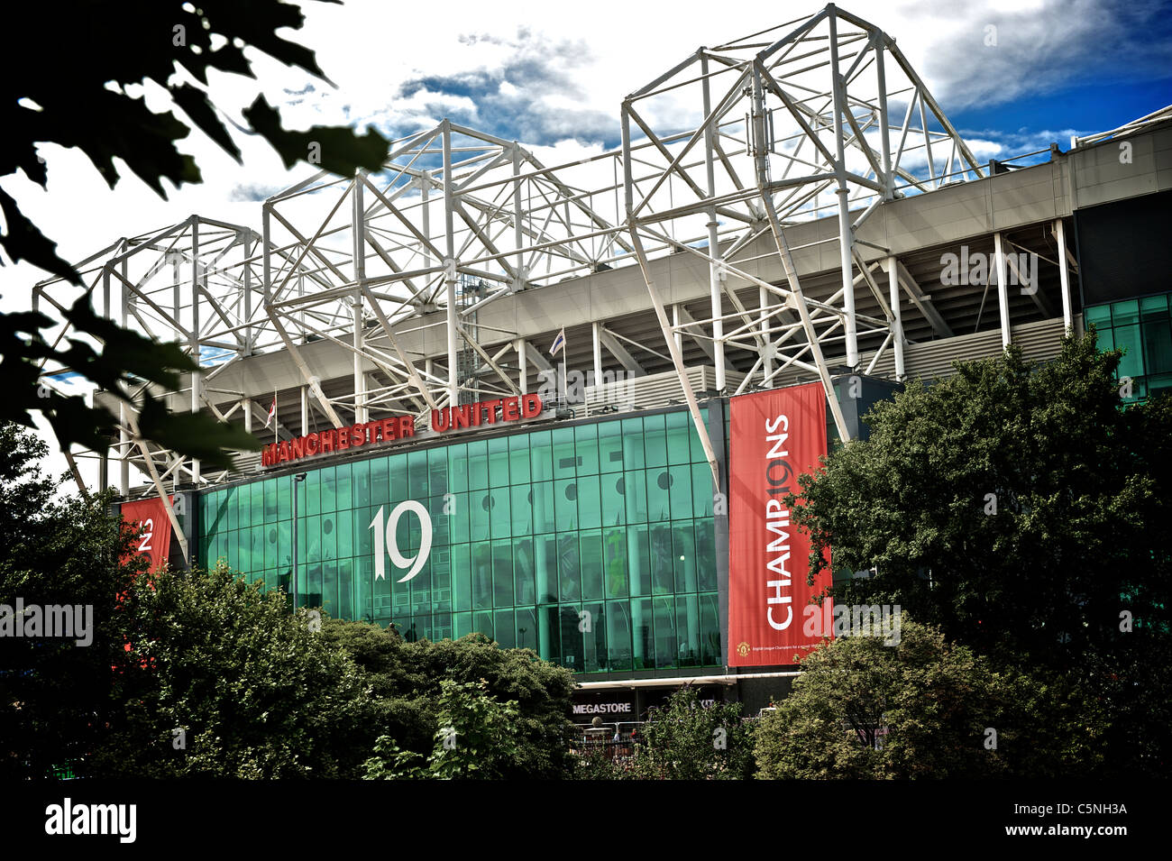 CHAMPIONS 19 TIMES, OLD TRAFFORD, HOME OF MANCHESTER UNITED - Stock Image