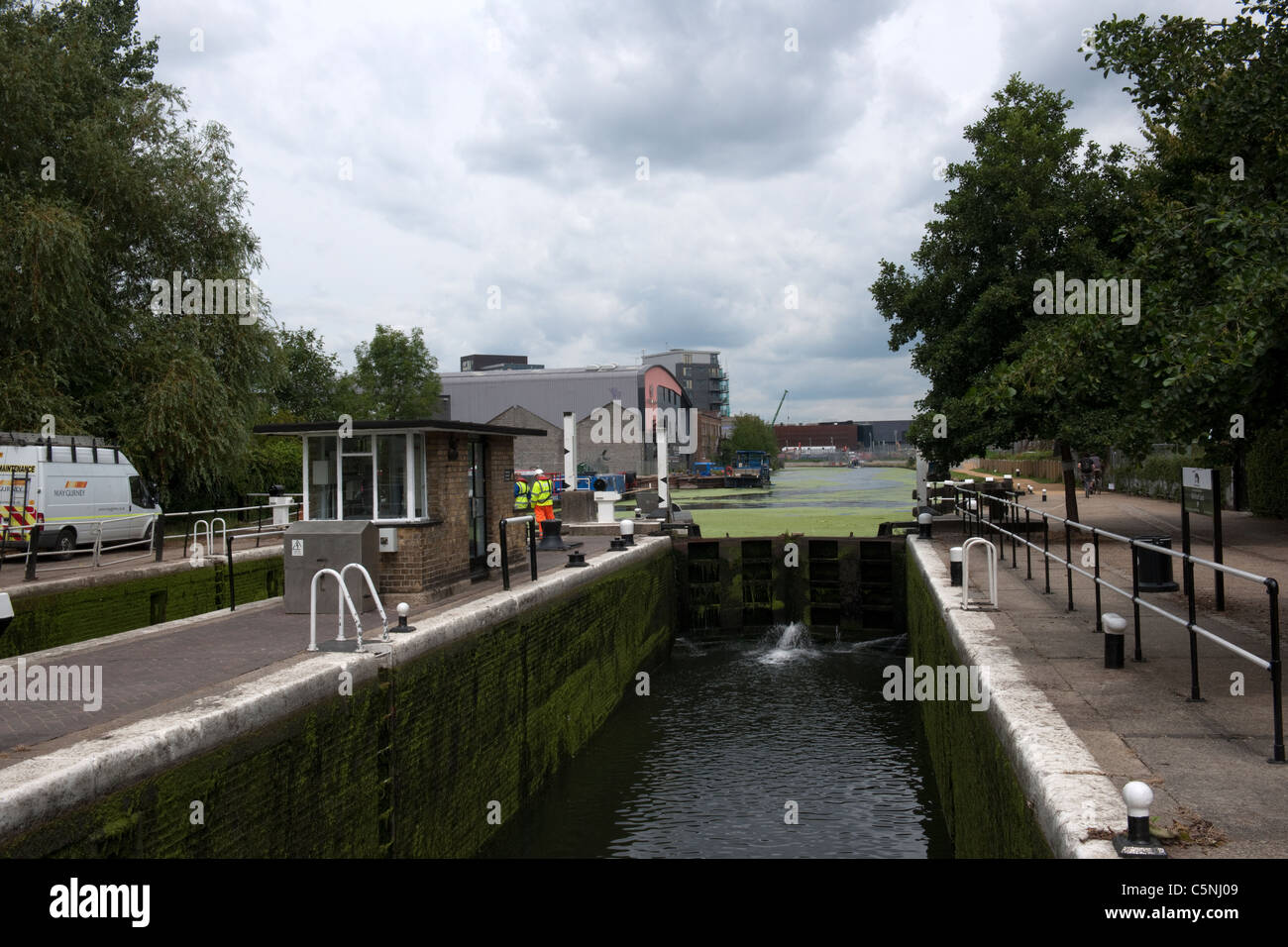 Old Ford Lock, London Borough of Tower Hamlets-1 - Stock Image