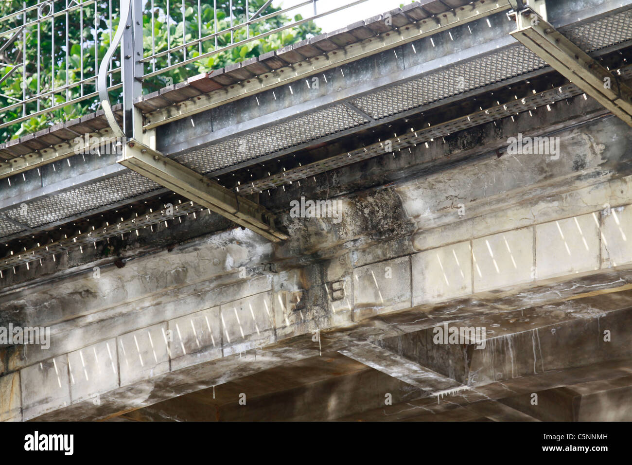indication, down the pont la ville noire, existing through centuries, mahebourg, mauritius - Stock Image