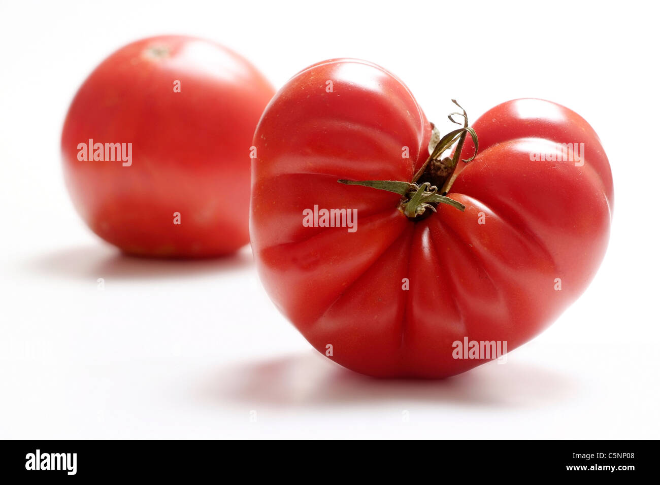 Tomato varieties:  Marmandino One - Stock Image