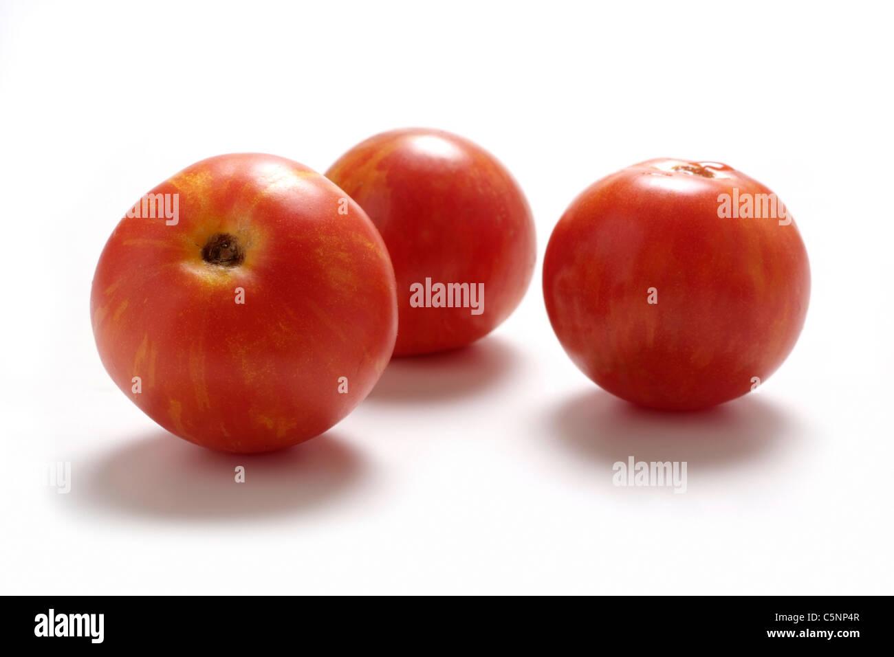 Tomato varieties: Tigerella - Stock Image