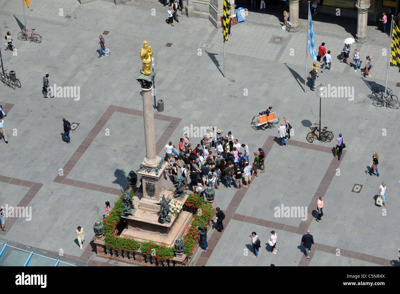 Crowds in Marienplatz Munich Bavaria Germany Munchen Deutschland Stock Photo
