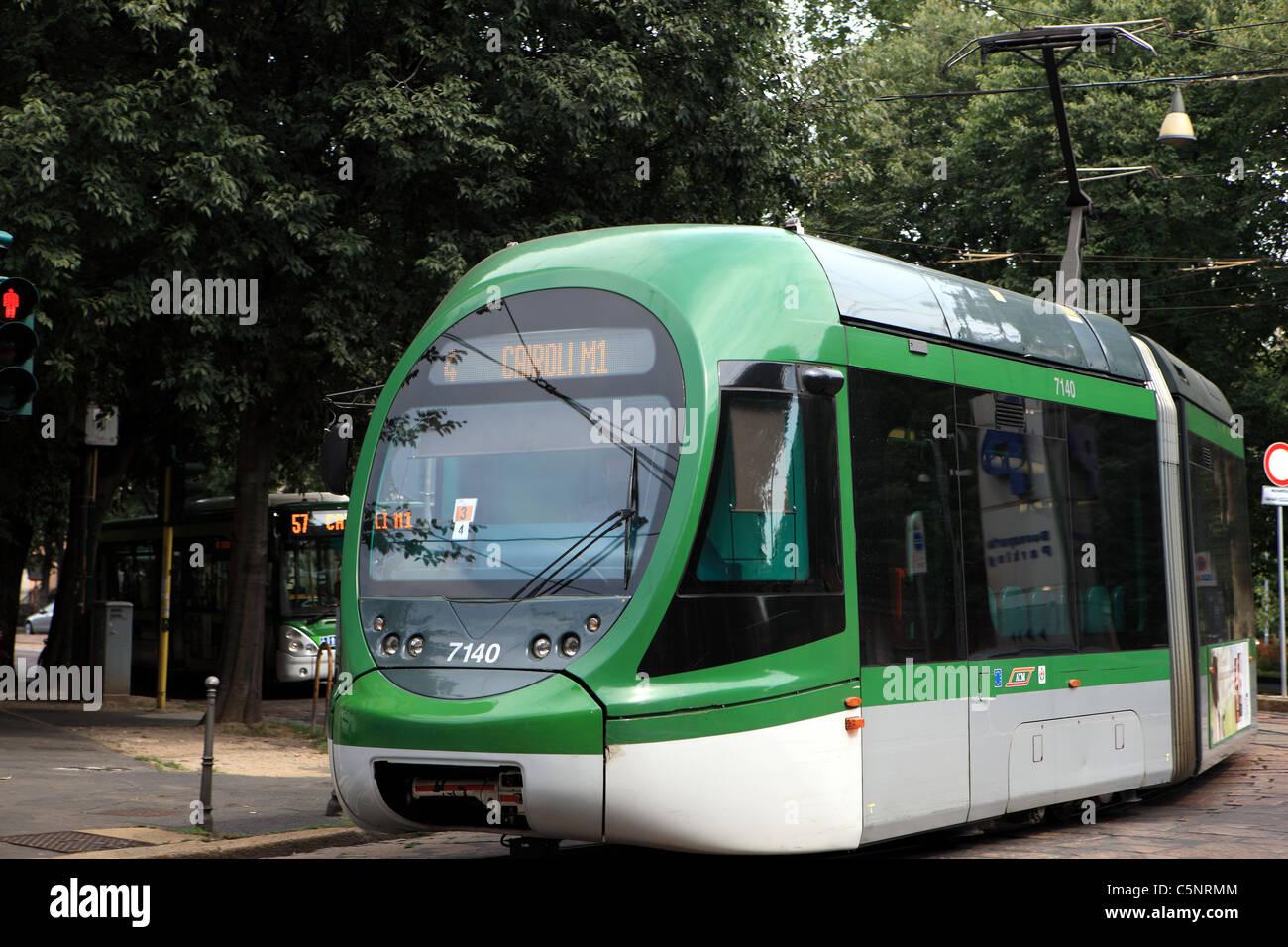 Tram in Milan - Stock Image