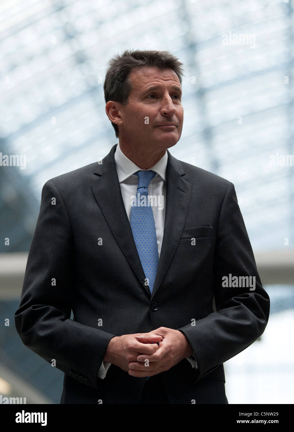 Lord Sebastian Coe  at an Olympic Ceremony in London. - Stock Image
