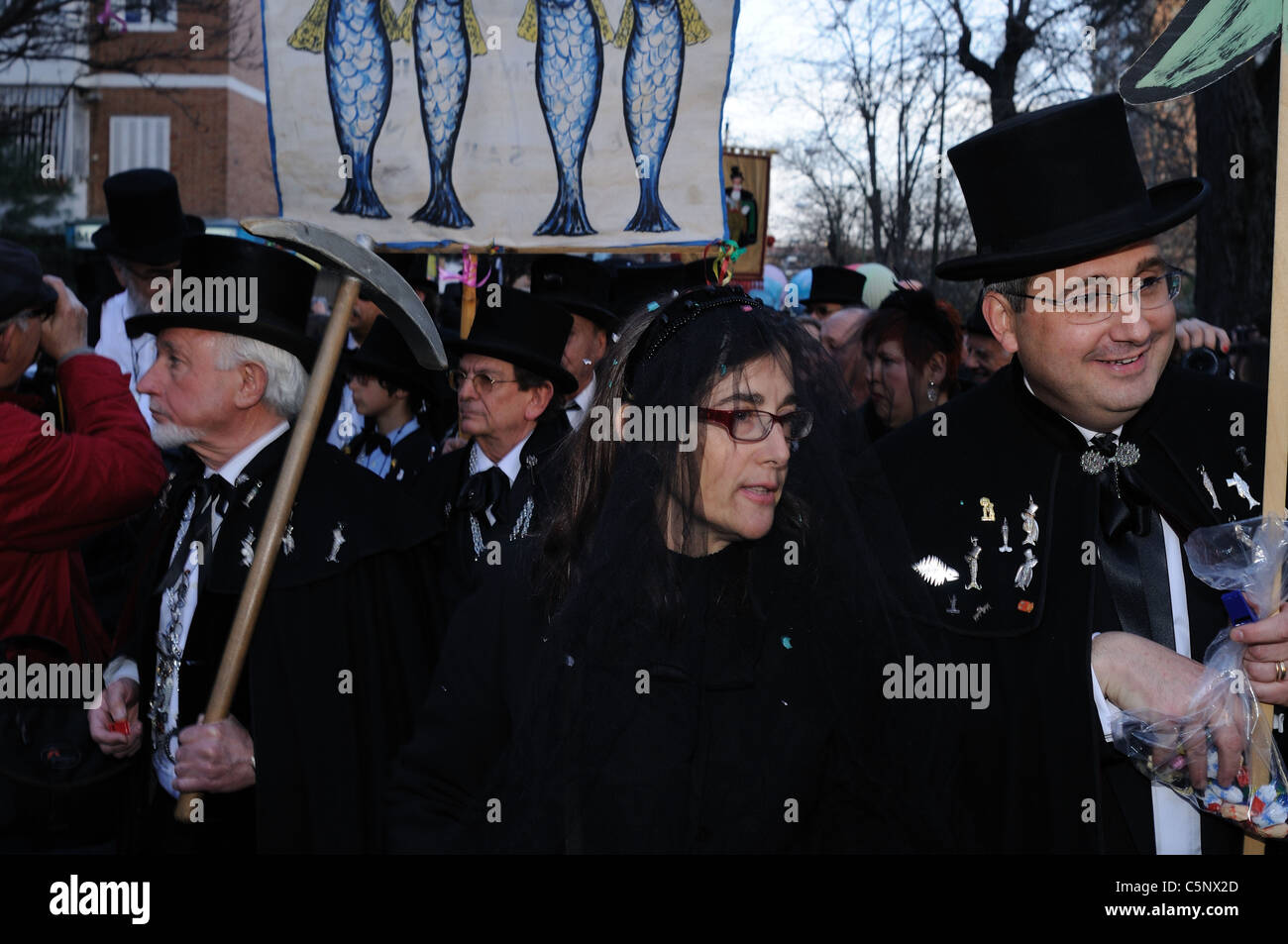 ' Burial of the Sardine' End of Carnival in MADRID .Community of Madrid. SPAIN - Stock Image