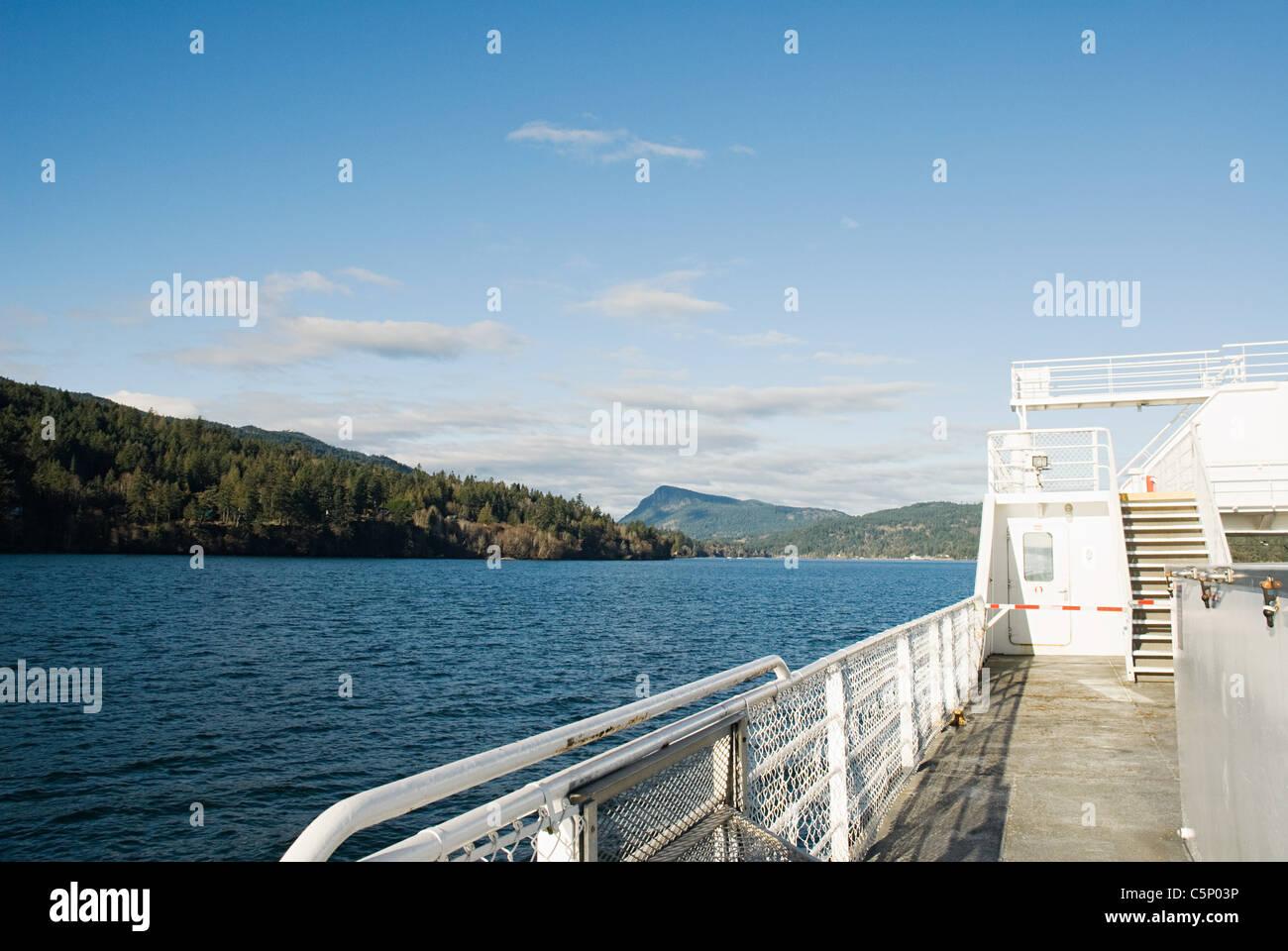 Ferry journey to Salt Spring Island, British Columbia - Stock Image