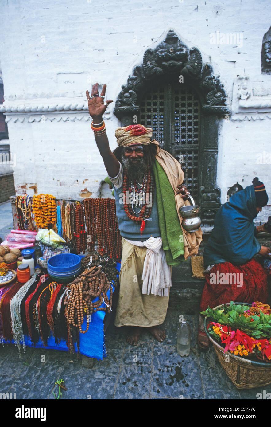 sadhu pashtupatinath kathmandhu nepal - Stock Image