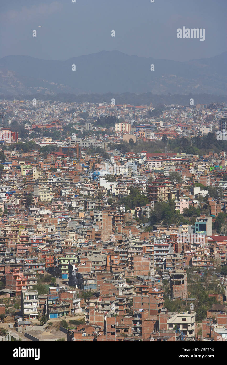 The urban sprawl of Kathmandu, Nepal, Asia - Stock Image