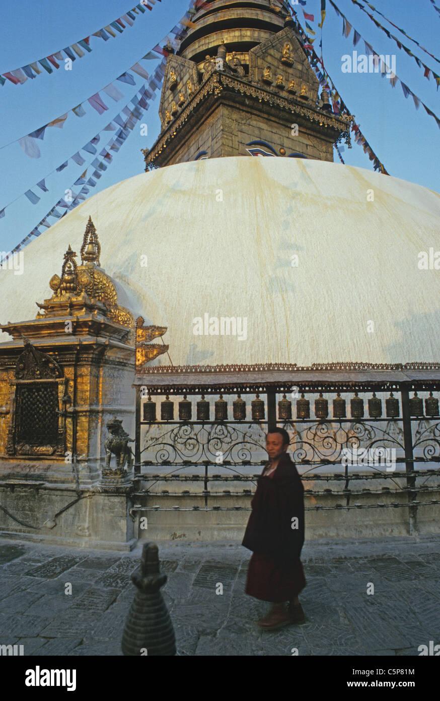 swayambunath stupa kathamandhu nepal - Stock Image