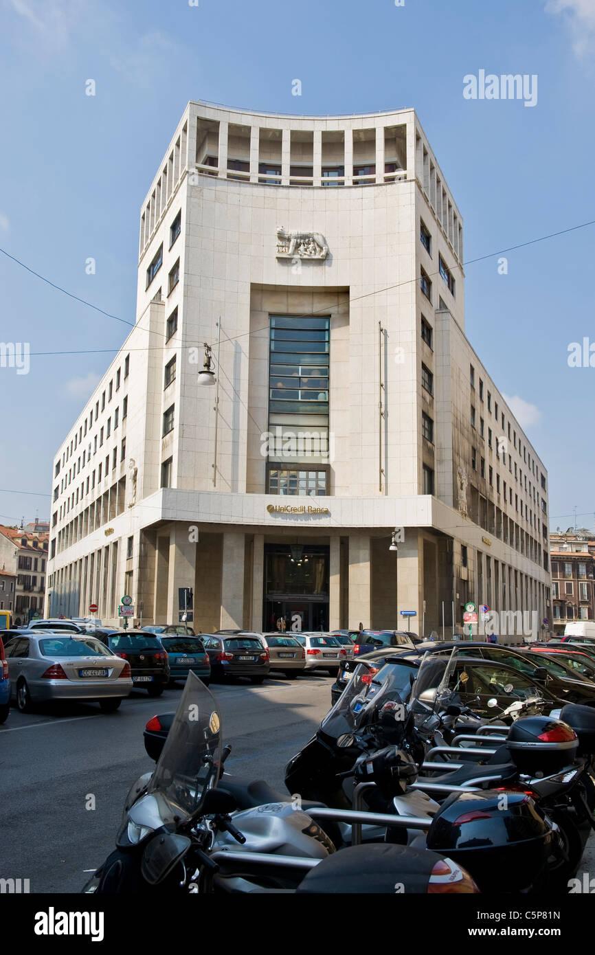 Unicredit Banca, Milan, Lombardy, Italy - Stock Image