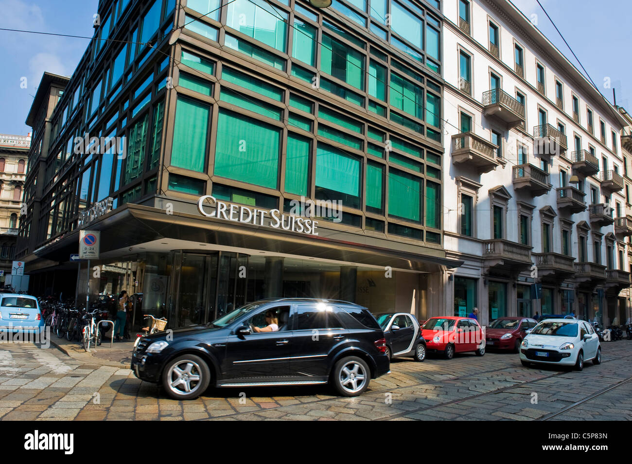 Credit Suisse, Milan, Lombardy, Italy - Stock Image