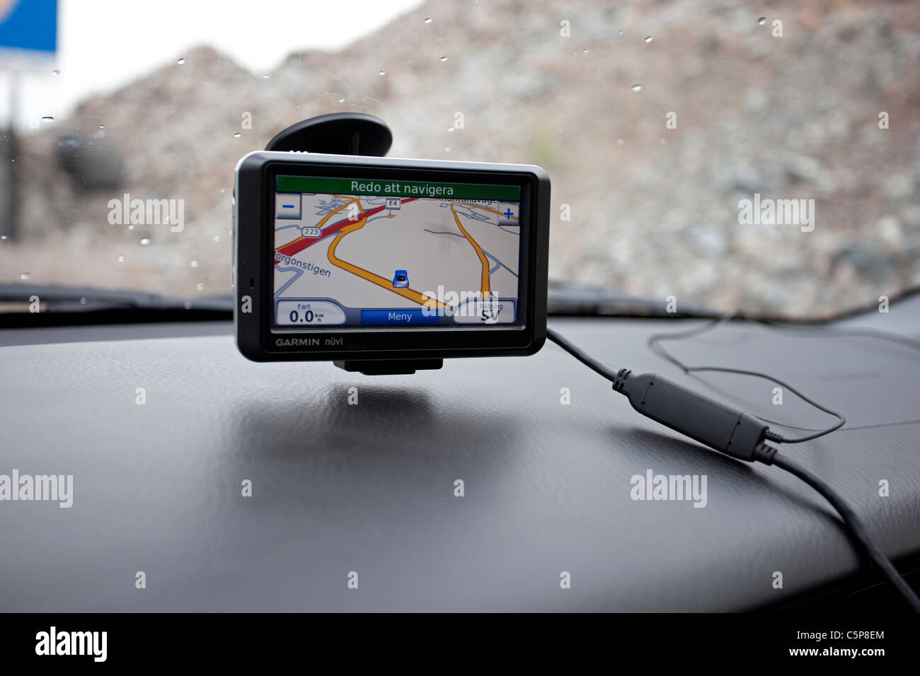 GPS for navigation in the car - Stock Image
