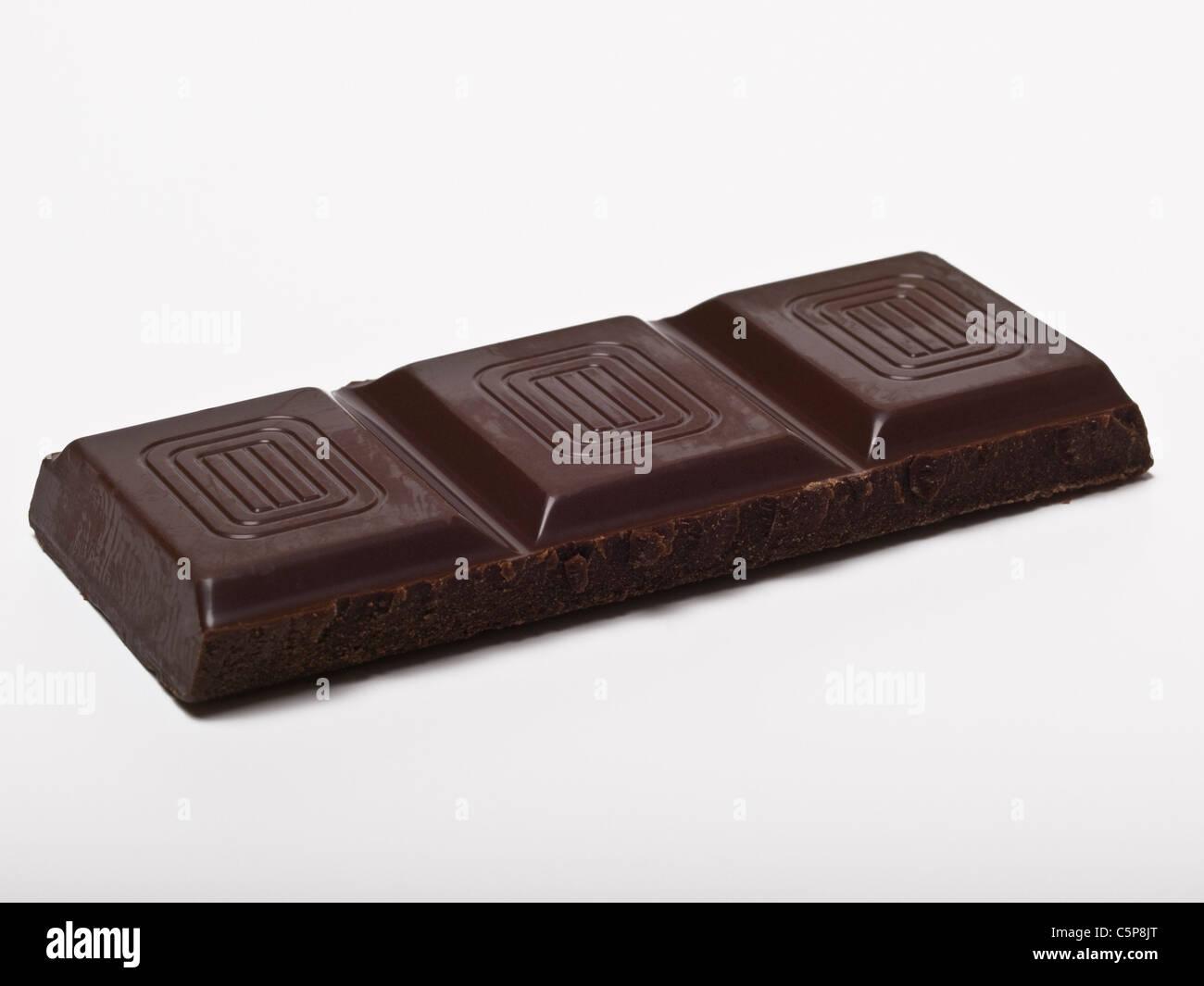 Detailphoto von einem Riegel Bitterschokolade | Detail photo of a dark chocolate bar Stock Photo
