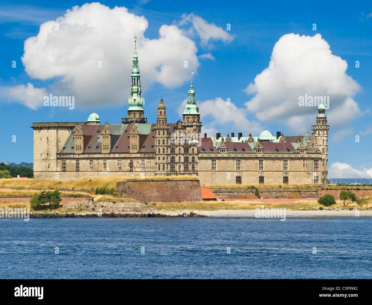 Hamlet Castle Kronborg, Elsinore municipality, Region Hovedstaden, island of Zealand, Denmark, Europe - Stock Image
