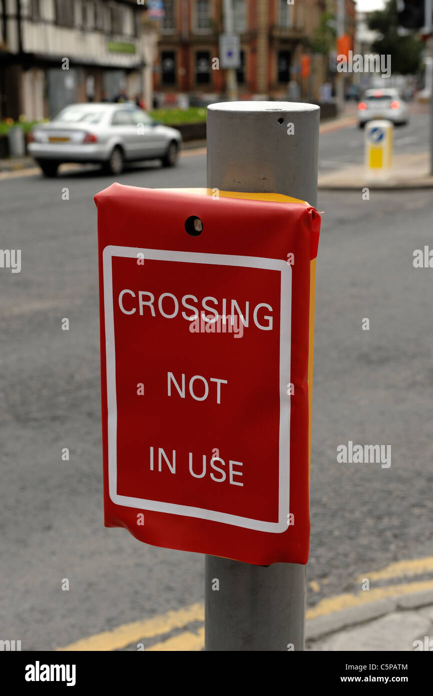 Pedestrian Crossing Not In Use - Stock Image