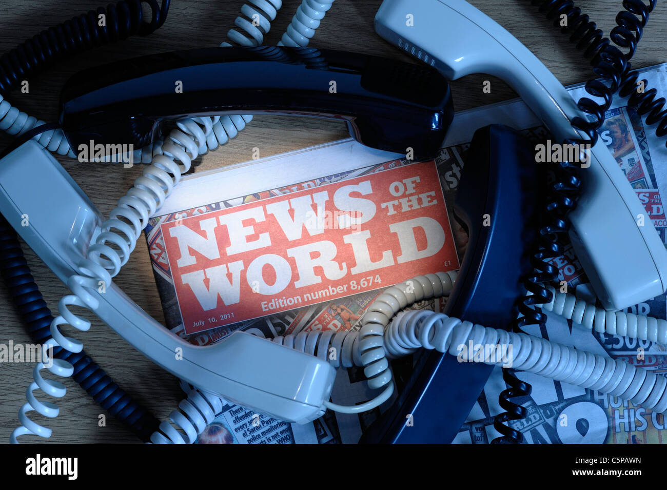 News of the World Phone Hacking Scandal - Stock Image