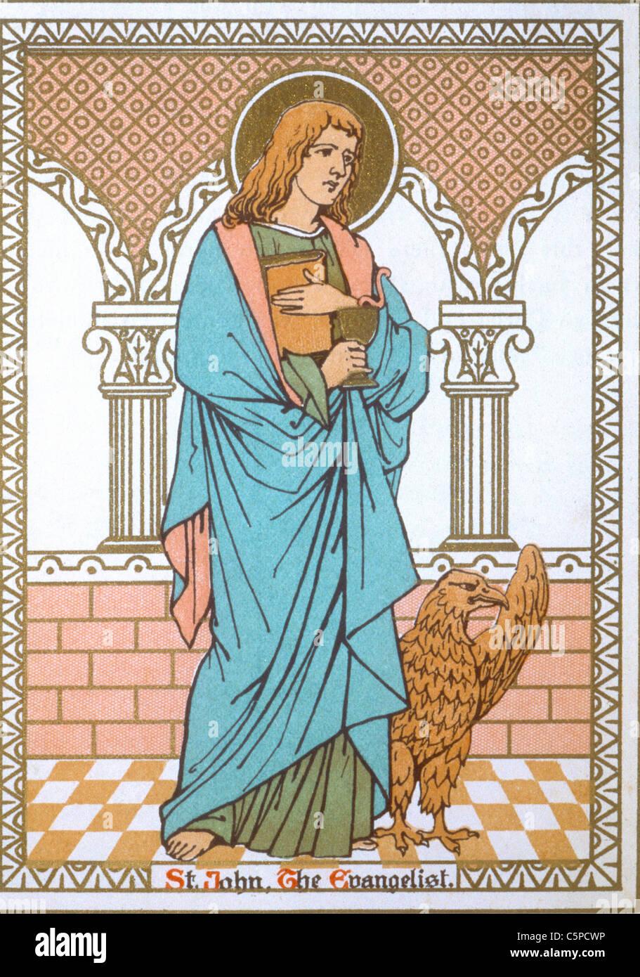 saint john the evangelist - Stock Image
