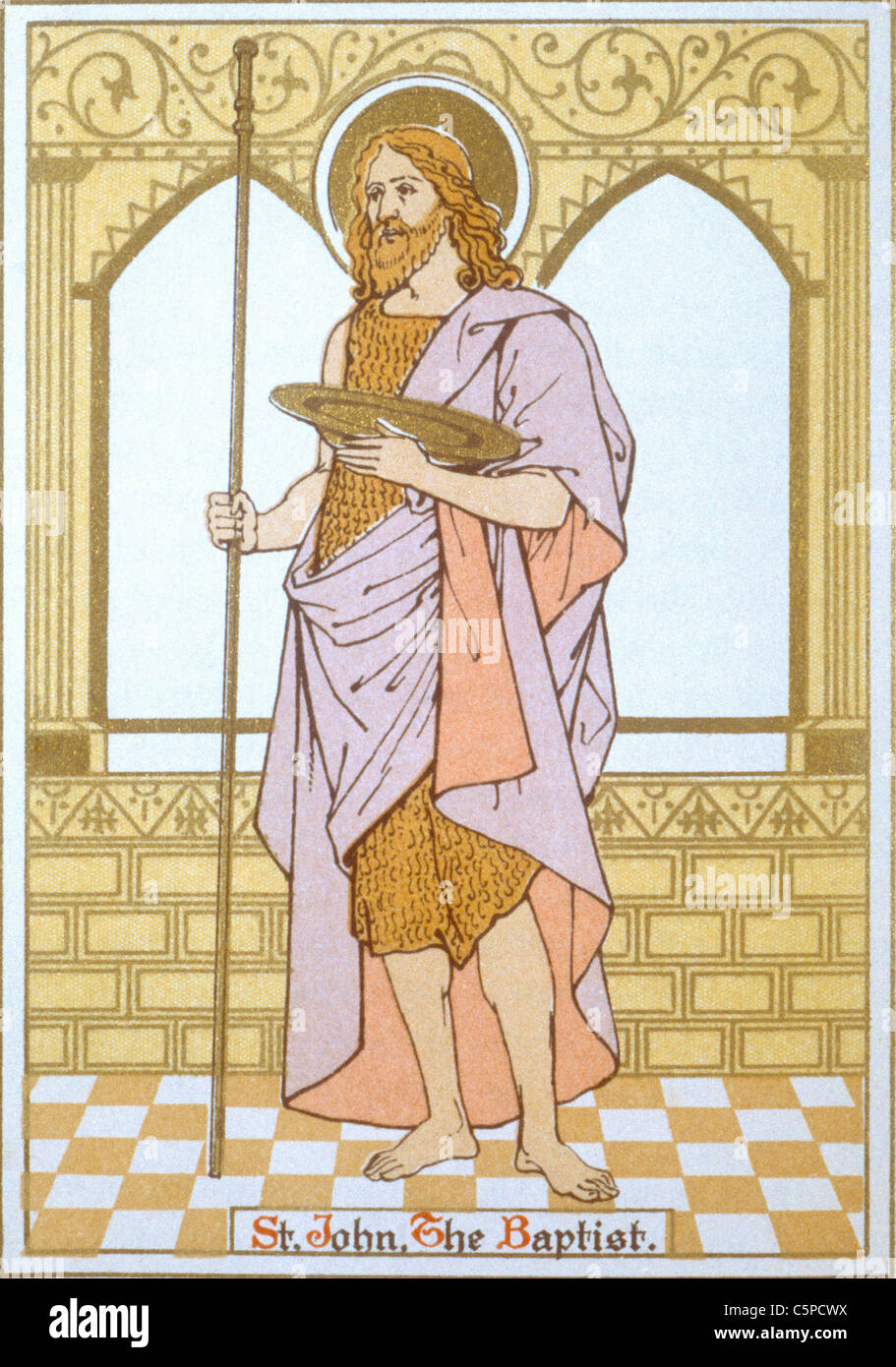 Saint John The Baptist - Stock Image