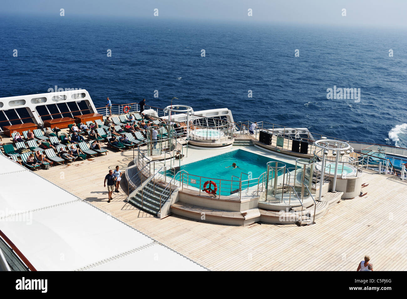 Swimming pool cunard liner queen stock photos swimming - Queen mary swimming pool victoria ...