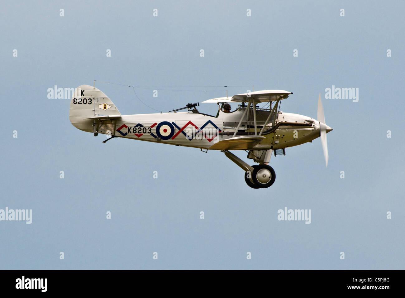 Vintage aircraft Demon two seater bi-plane - Stock Image