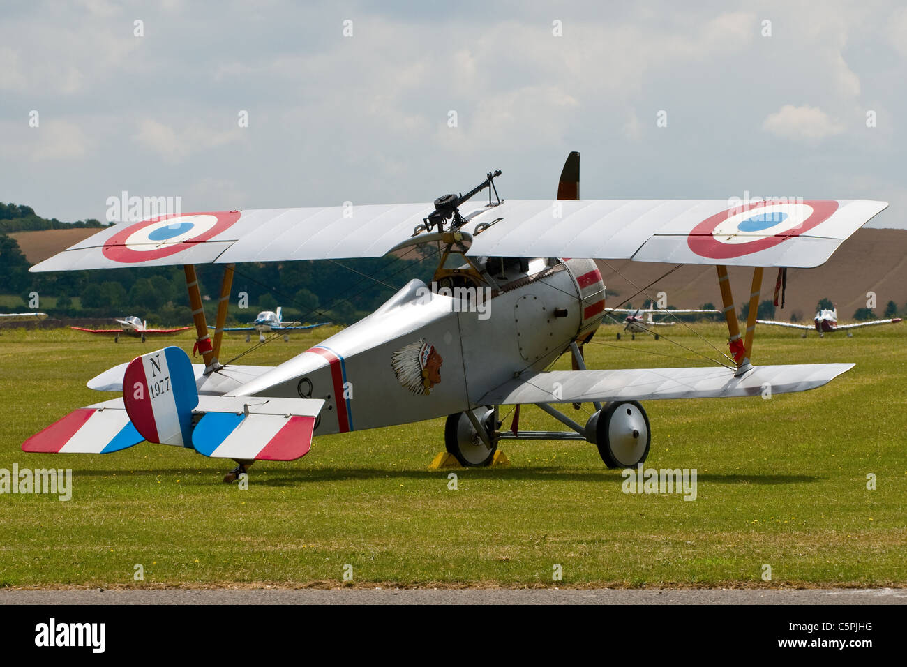 Nieuport 17 bi-plane N 1977 from the first World war - Stock Image