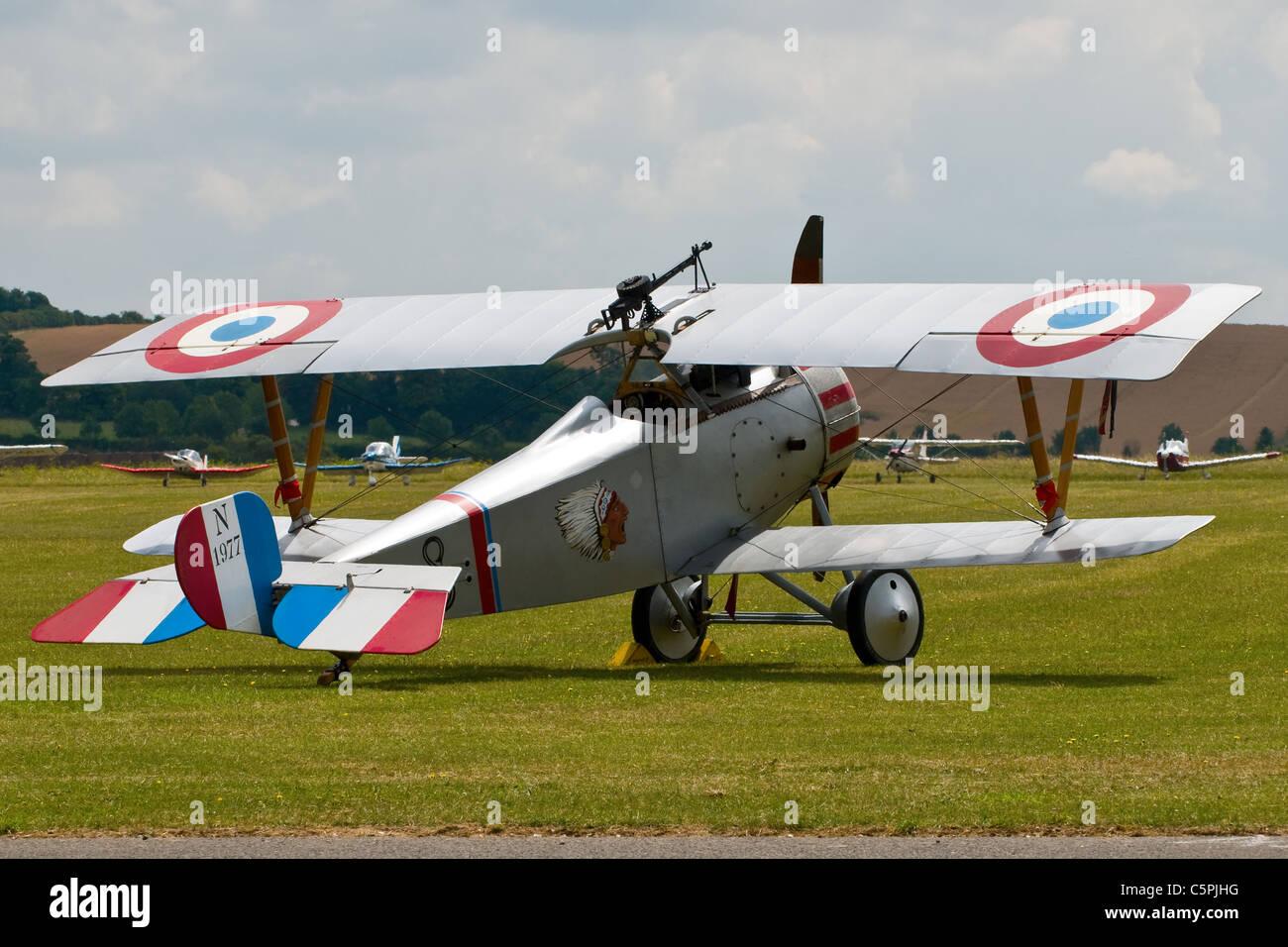 Nieuport 17 bi-plane N 1977 from the first World war Stock Photo