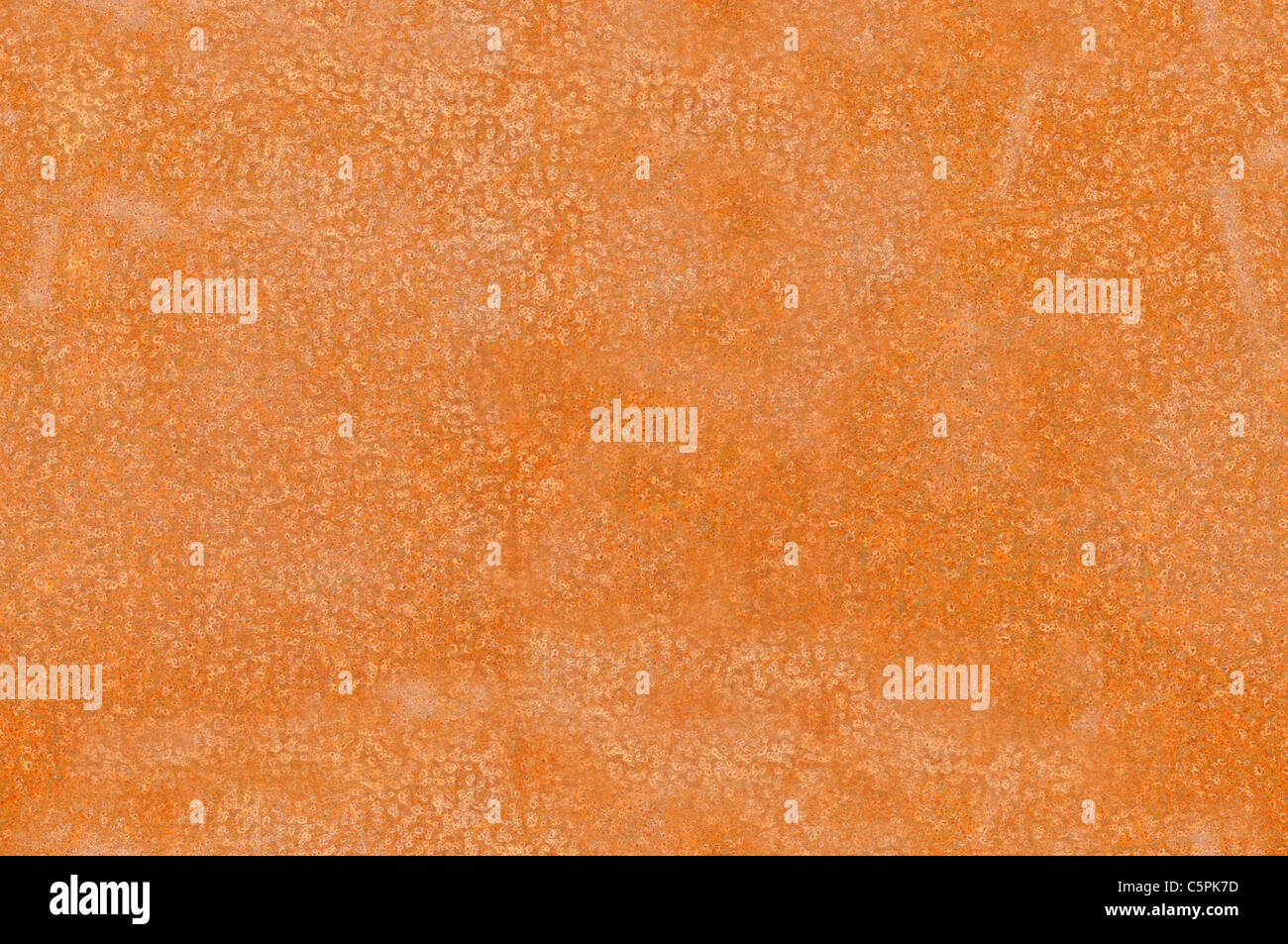 Close-up of a rusted metallic plak texture that perfectly loop horizontally and vertically - Stock Image
