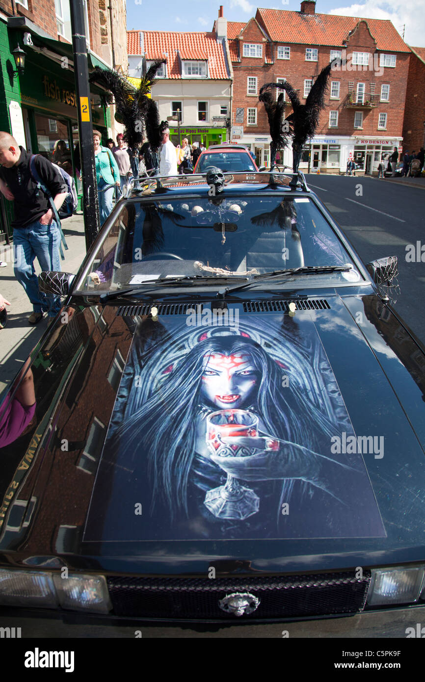 Whitby Yorkshire England Goth Weekend Black Car With