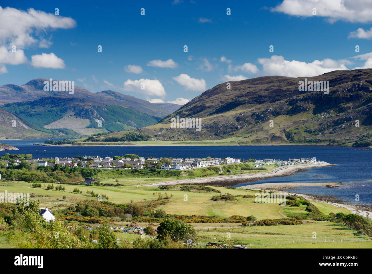 Overlooking Ullapool and Loch Broom, Ross and Cromarty, Highland, Scotland, UK. - Stock Image