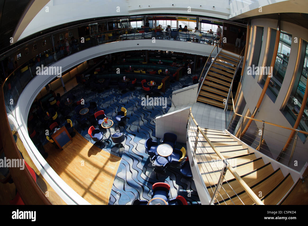 Main Bar Area In The Brittany Ferries Mv Pont Aven Stock