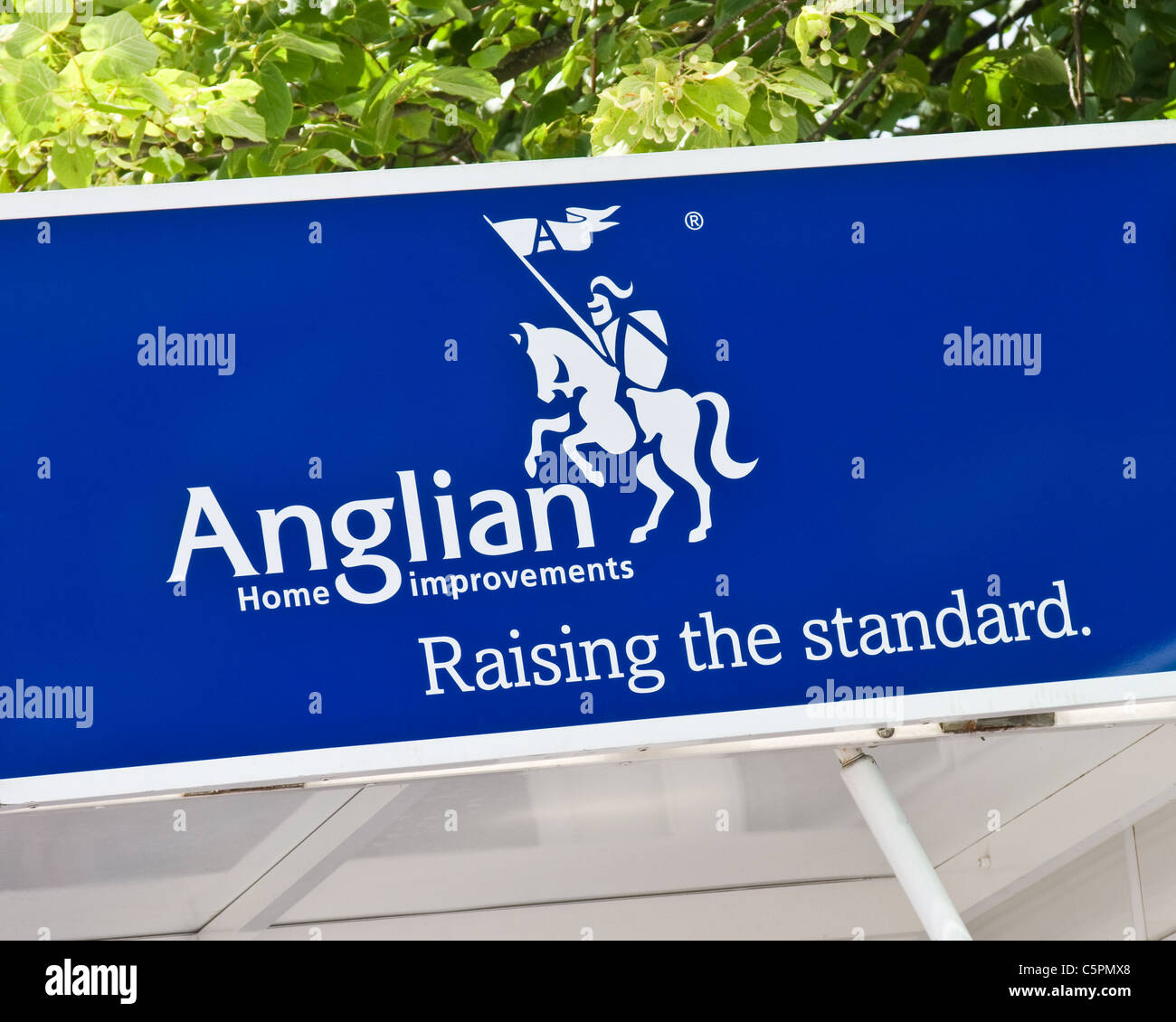 Anglian Home Improvements Sign Stock Photo Alamy