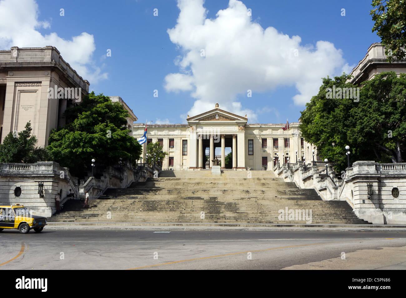 Fidel Castro's alma mater, the Universidad de La Habana (Habana University), Havana, Cuba - Stock Image