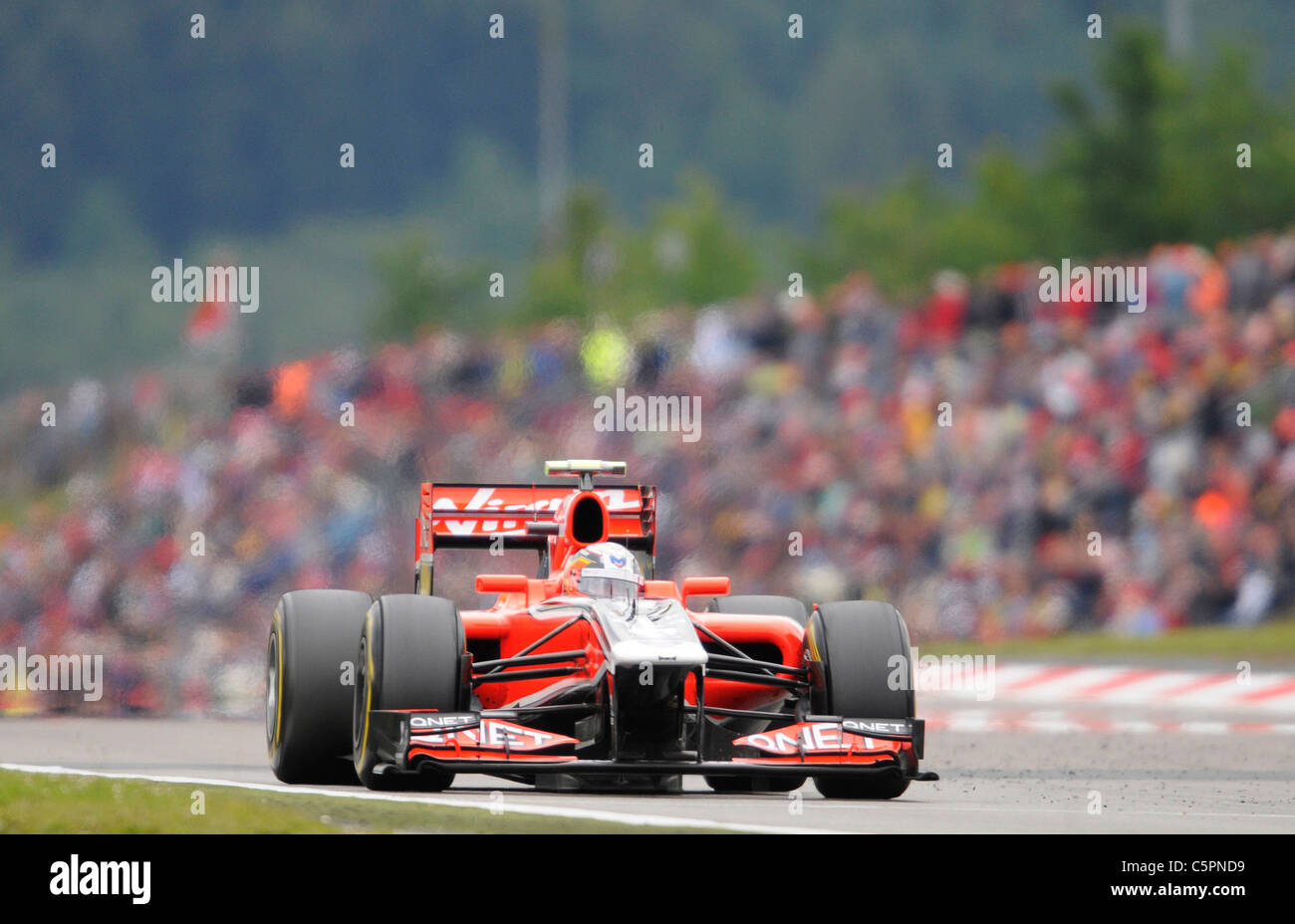 Jerome D'Ambrosio (BEL),Marussia in front of the crowds at the German Formula One Grand Prix on Nürburgring - Stock Image