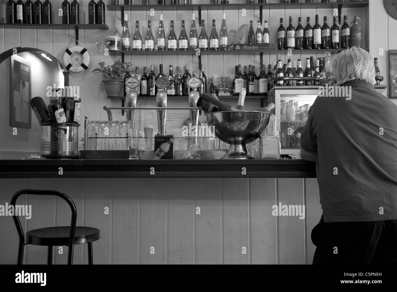 Sitting On Bar Stool Stock Photos Amp Sitting On Bar Stool