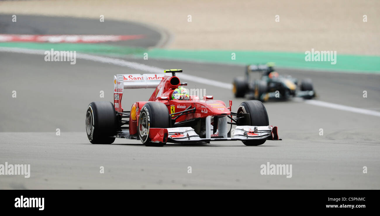 Felipe Massa (BRA), Ferrari at the German Formula One Grand Prix on Nürburgring racetrack in Germany - Stock Image